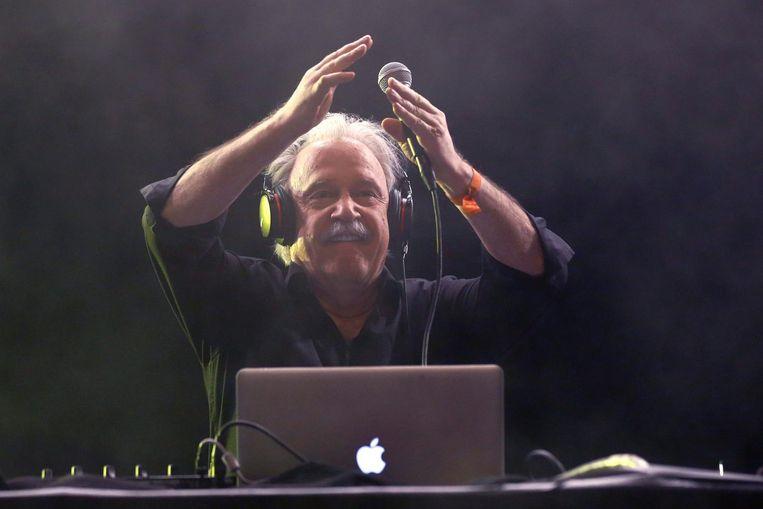Giorgio Moroder op een festival in Berlijn Beeld ANP