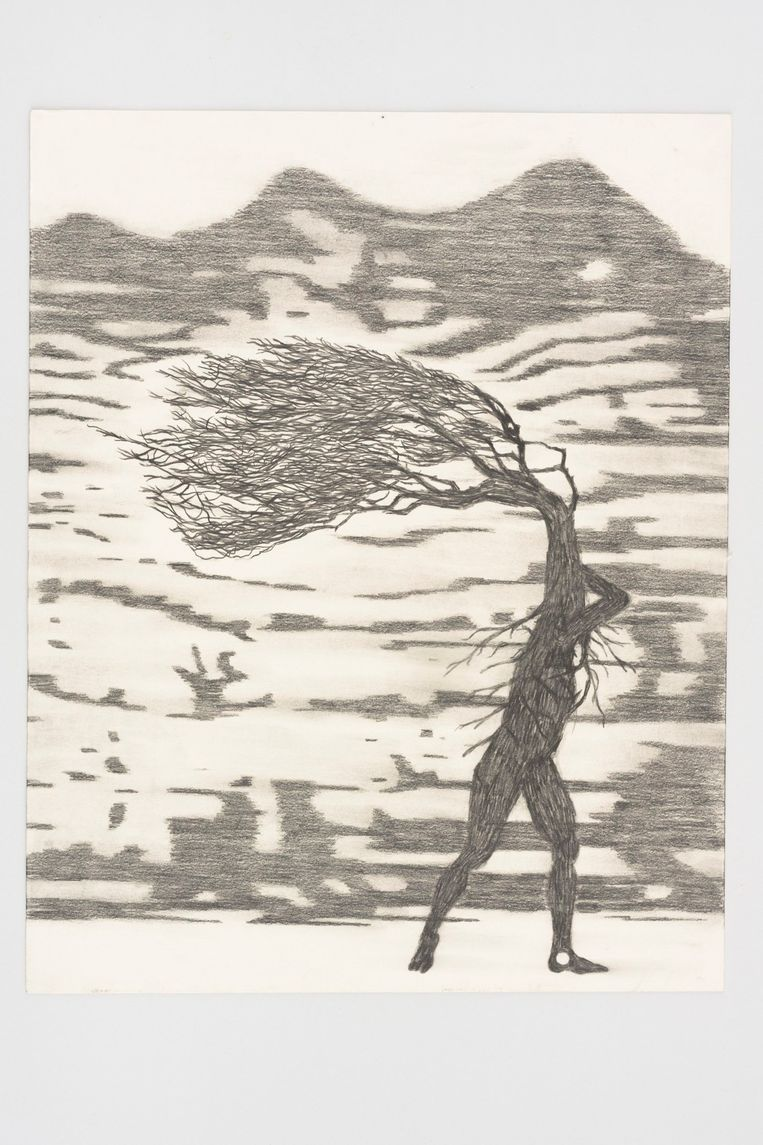 Simon Benson, The Wind Formed West Bay (2019), Galerie Phoebus. Beeld Galerie Phoebus