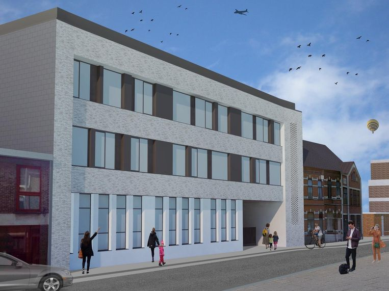 Het ontwerp van DJB-Architecten voor de nieuwbouw aan de straat Rozenberg.
