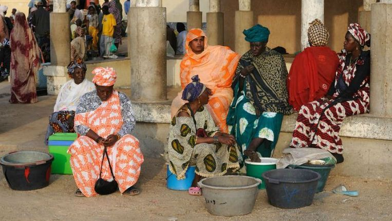 Vismarkt in Nouakchott, Mauritanië. Beeld Hollandse Hoogte