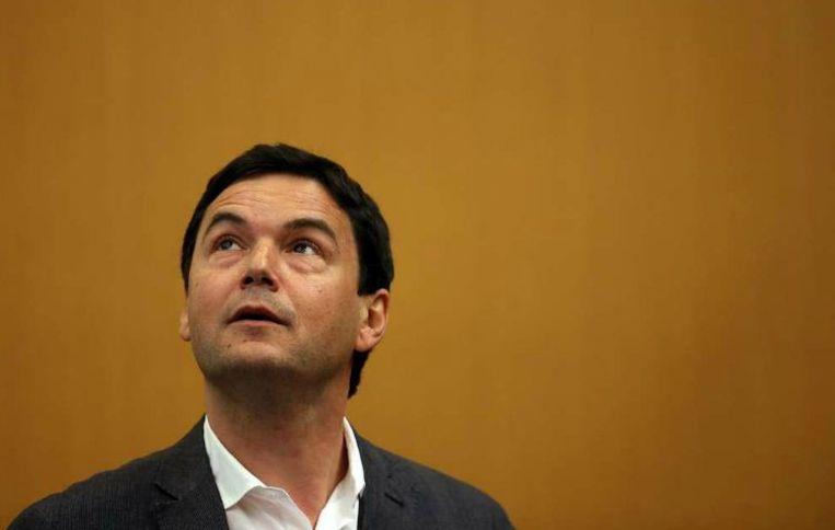 De Franse econoom Thomas Piketty reist de wereld rond om lezingen en interviews te geven. Beeld anp