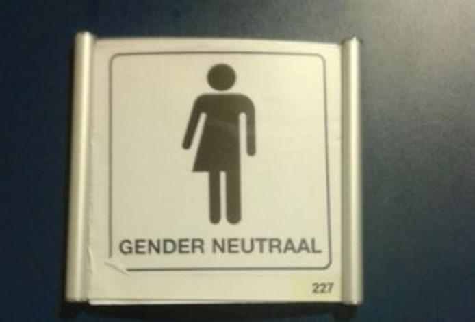 MBO Rijnland in Alphen heeft een genderneutraal toilet.