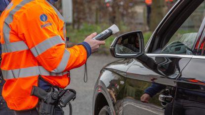 Tien bestuurders onder invloed betrapt bij weekendcontrole