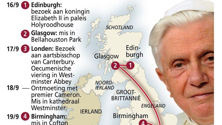 Pausbezoek Engeland en Schotland. Foto ANP Beeld
