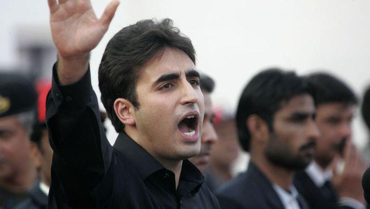 Bilawal Bhutto tijdens zijn toespraak. Beeld reuters
