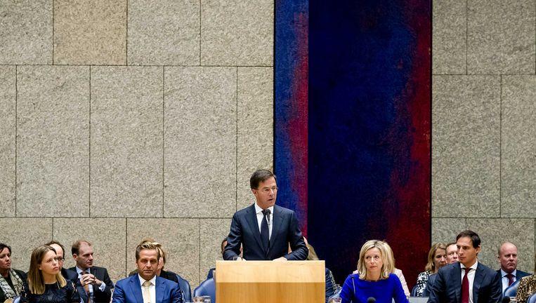 Het nieuwe kabinet in Vak K. Beeld anp