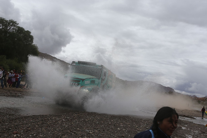 Gerard de Rooy op weg naar etappewinst in Oruro.