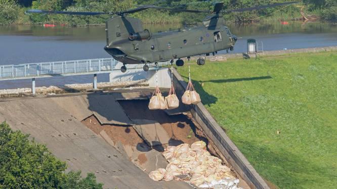 Dam in noorden van Engeland dreigt te breken: stadje volledig ontruimd, luchtmacht zet helikopter in