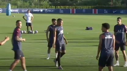 Mbappé traint weer mee bij PSG en lijkt alsnog klaar voor kwartfinale Champions League