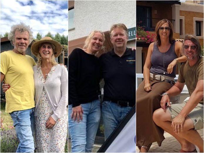 Sylvia Jacobi en Frans de Jong, Marco Slinger en Angela Zandbergen, Evelien Hillebrand en Michel Koopman hebben een verblijf in het buitenland.