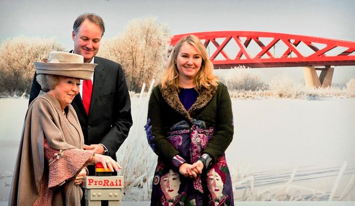 De verwelkoming en officiële opening van de vorstin in Lelystad. Foto: ANP