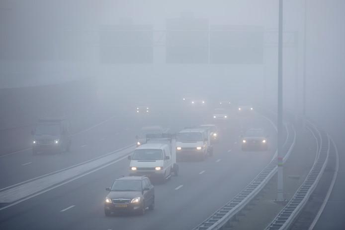 In het oosten van het land is het donderdagmorgen erg mistig.