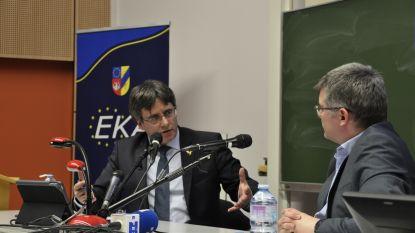 """Puigdemont bezoekt Antwerpse unief: """"Europese stilte rond Catalaanse kwestie is teleurstellend"""""""