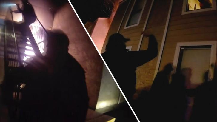 Jongen in Texas springt uit raam van brandend gebouw