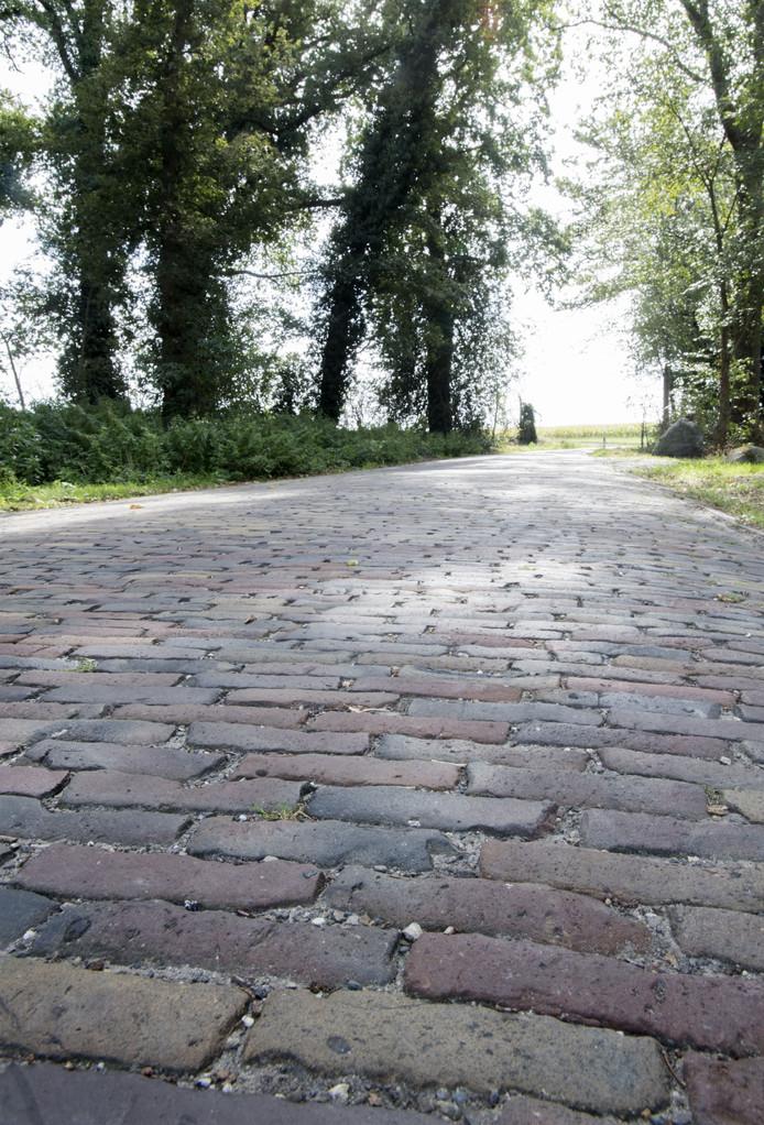 Deel van de Harberinksweg waar de antieke waaltjes er nog in zitten.