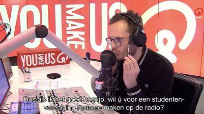 """Qmusic-dj Vincent Fierens houdt luisteraar aan het lijntje: """"Dit is zo gênant"""""""