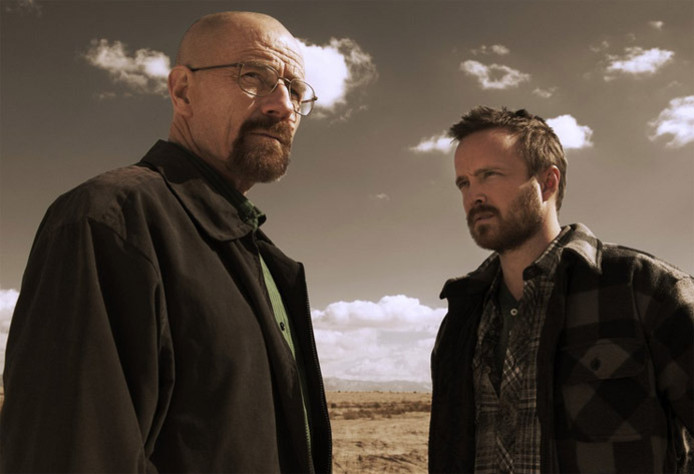 Bryan Cranston et Aaron Paul dans 'Breaking Bad.'