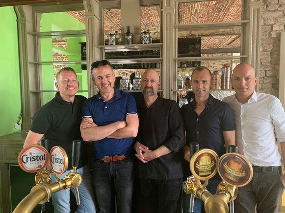De Fab Five: Stijn Vankrunkelsven, Philip De Hollogne,   Nico Schrayen, Thomas Buffel en Smaakmaker David Gilis.