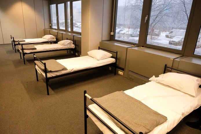 (Archiefbeeld) Een slaapzaaltje in een centrum voor daklozen in Haren.