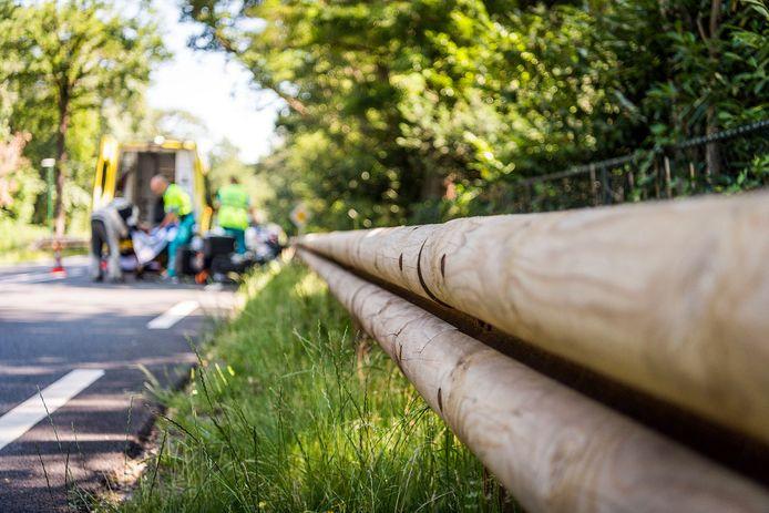 Ongeluk op de Lieshoutseweg in Nuenen, het achttiende dit jaar volgens bezorgde bewoners van Lieshout. Zij willen dat provincie en gemeente de weg snel veiliger maken.
