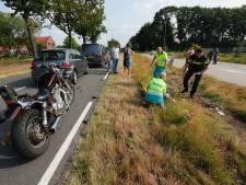 Motorrijder rijdt op stilstaand verkeer in Son en raakt gewond