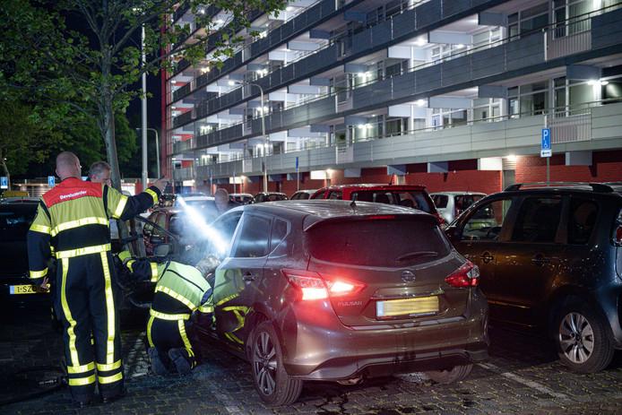 Autobrand in Tilburg