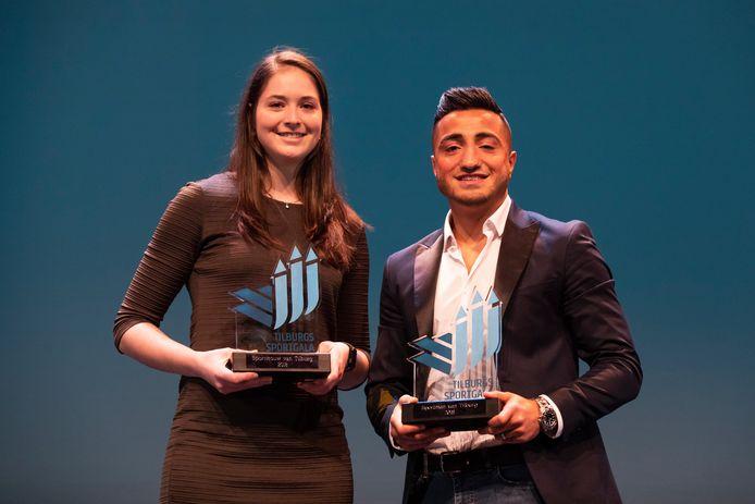 Tanita Hofmans en Tayfun Özcan, de winnaars van vorig jaar.