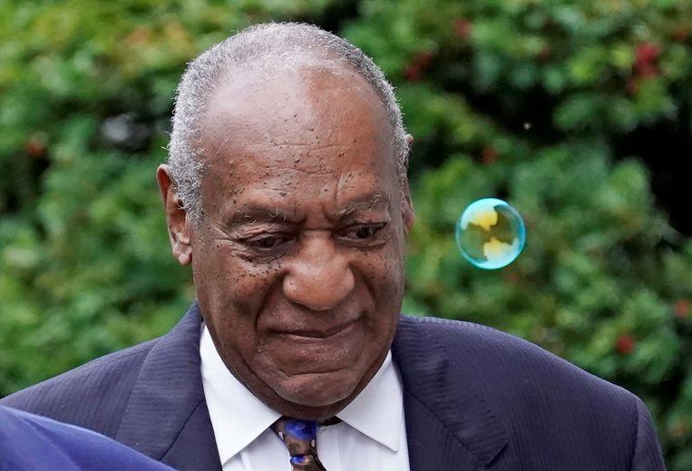 Bill Cosby gisteren bij het eerste deel van de zitting waarin hij zijn strafmaat hoort.