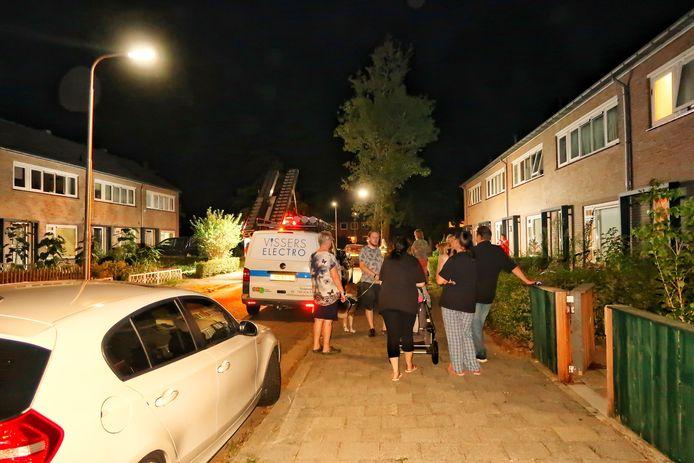 Gaslucht in Van Heemstrastraat in Oss.