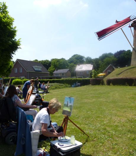 Sprundelse molen De Hoop is model bij actie Kunstparel 2020