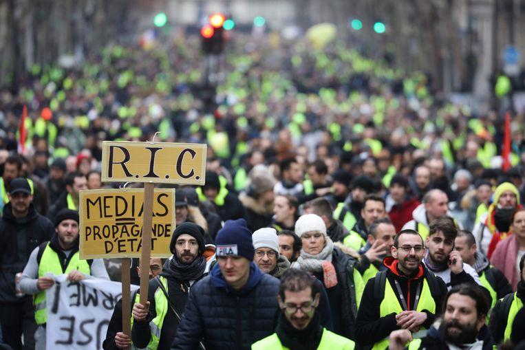 Onder meer in Parijs waren er weer protesten van de gele hesjes.