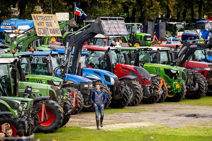 De boeren kwamen vorige week massaal opdraven in Den Haag. EPA/SEM VAN DER WAL