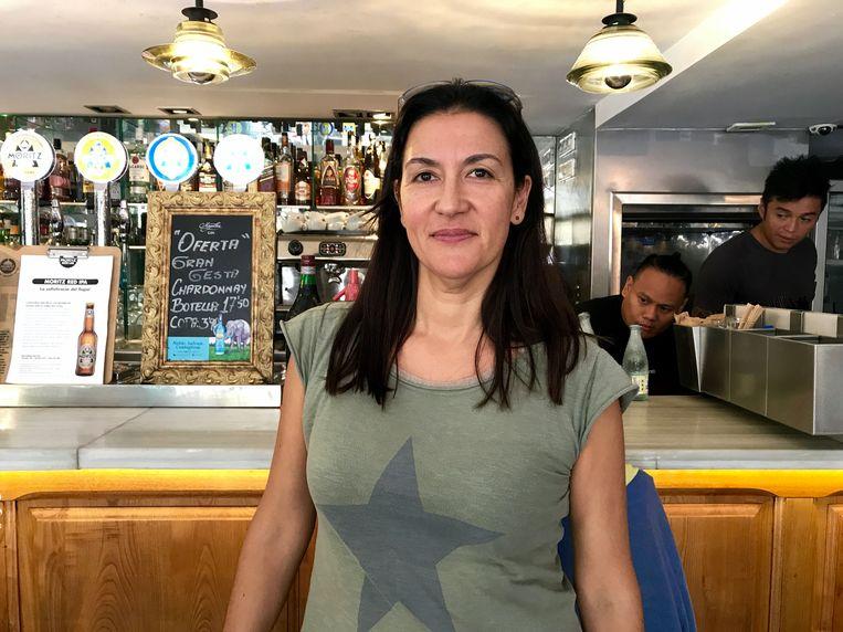 Maria Dolores, hoteleigenaresse in Barcelona. Ze is tegen onafhankelijkheid.