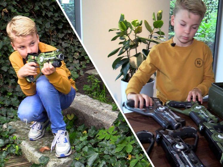 Mats heeft een eigen bedrijf en verhuurt laserguns: 'Wilde al vanaf mijn zesde geld verdienen'
