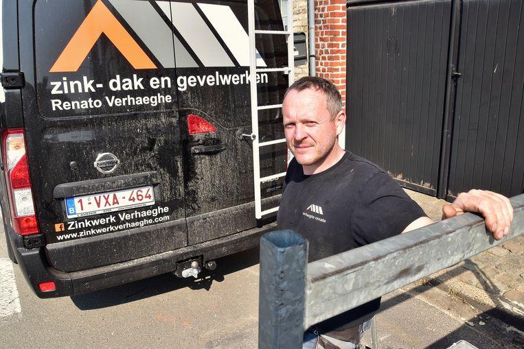Renato Verhaeghe (40) uit Ieper werd in 2019 het slachtoffer van een inbraak in zijn bestelwagen.