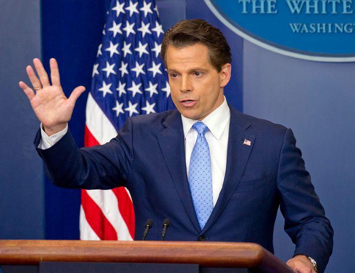 Anthony Scaramucci volgde in juli 2017 tien dagen lang Sean Spicer op als woordvoerder van het Witte Huis.