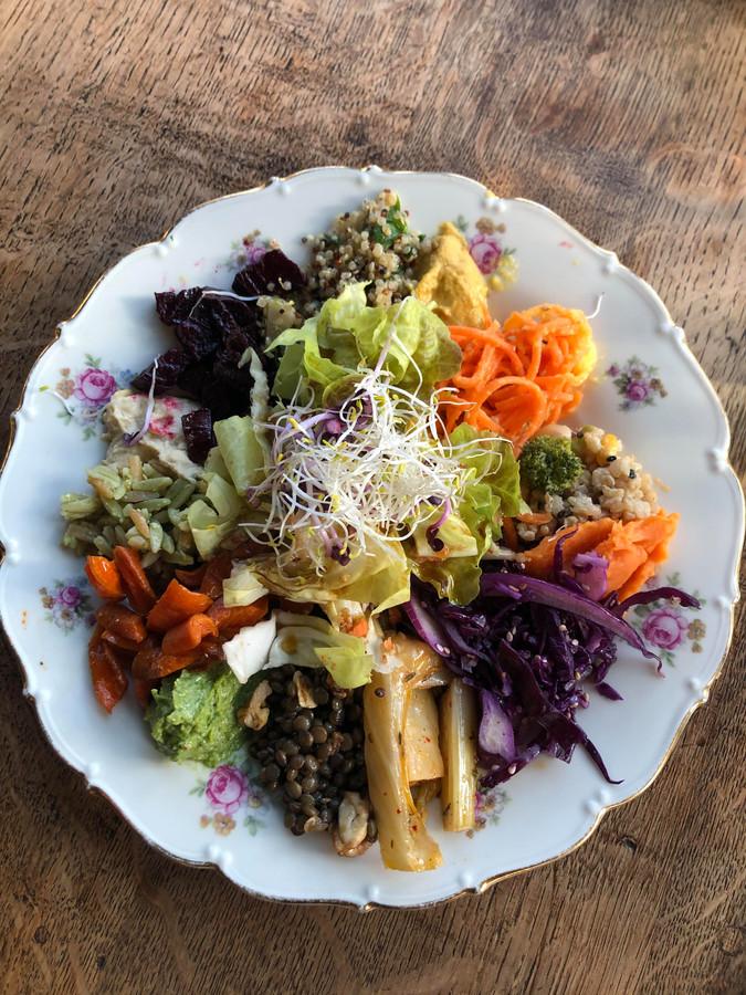L'assiette de légumes.