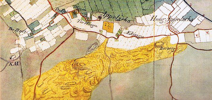 Een kaart van Appelscha uit de atlas van Huguenin uit 1819