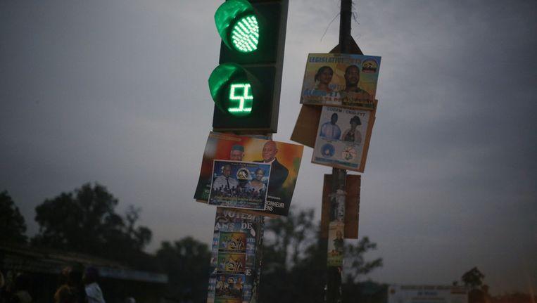 Verkiezingsaffiches in Bamako, Mali. Beeld ap