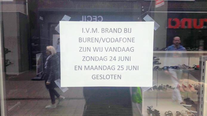 Schuurman Schoenen in Winterswijk is nog gesloten tot dinsdag.