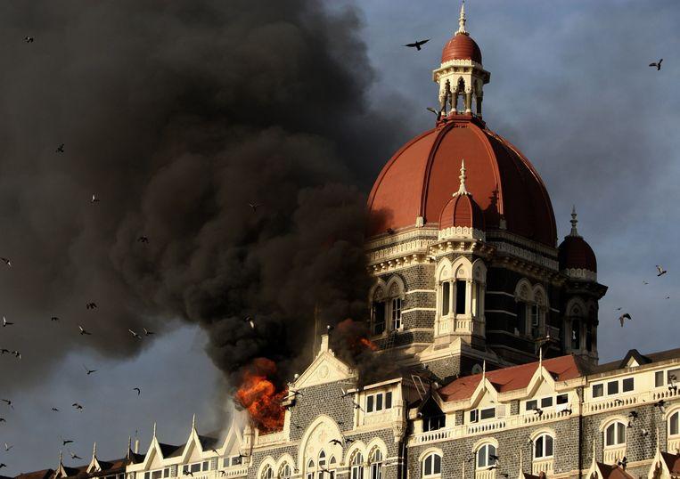 Het Taj Mahal Hotel in Mumbai was in 2008 een van de gebouwen waar terroristen afschuwelijk tekeer gingen.