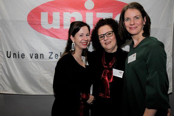 Saar, Ilse en Marijke vormen de sterke dames in het bestuur van Unizo Hageland.