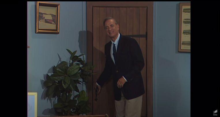 Tom Hanks als Fred Rogers. Beeld Trouw