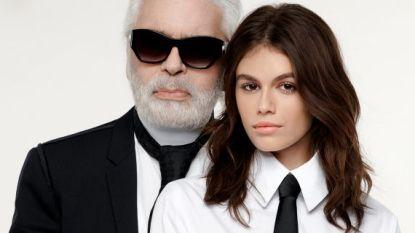 Karl Lagerfeld licht tipje van de sluier over collectie met Kaia Gerber