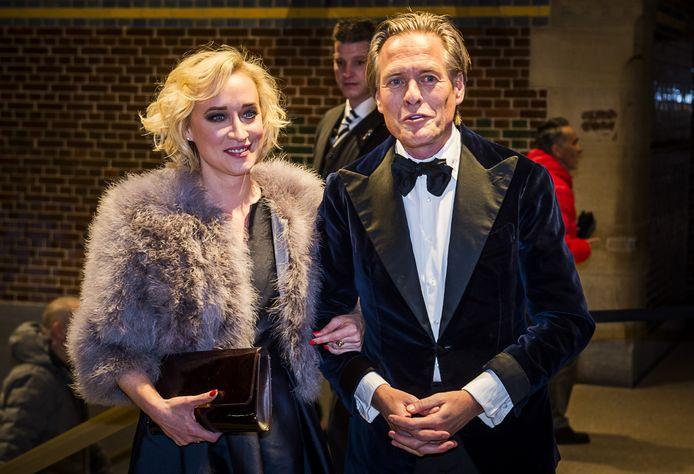Eva Jinek en Jort Kelder arriveerden woensdag samen op het Correspondents' Diner.