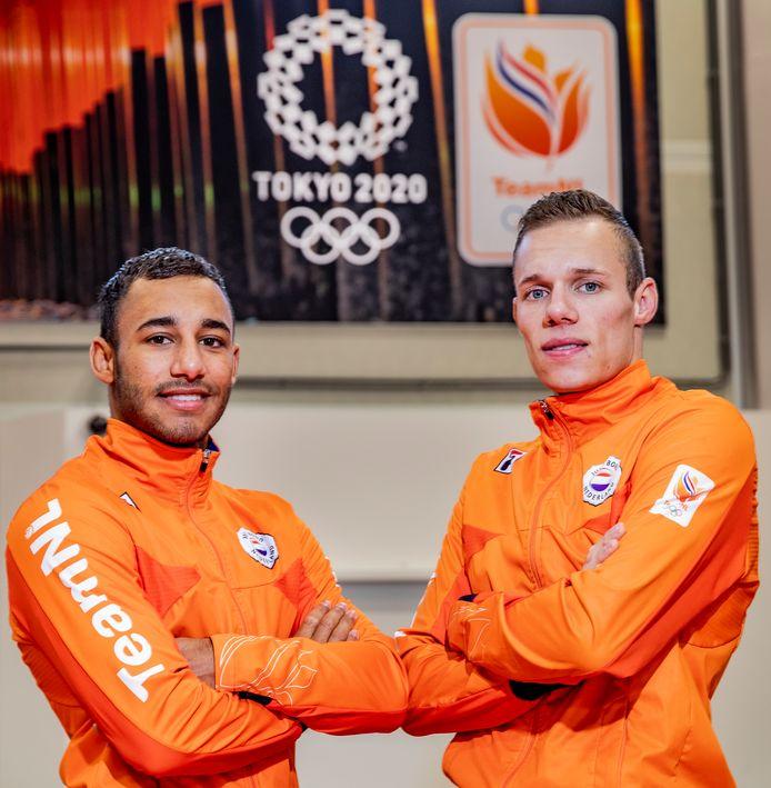 Roy Koffijberg (links) met broer Bas. Beide judoka's zijn nu afgevallen voor het traject richting de Olympische Spelen.