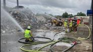 Hevige brand bij Renewi in Vilvoorde