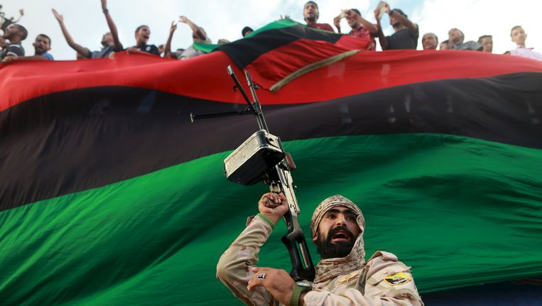 Demonstratie in Benghazi Beeld REUTERS