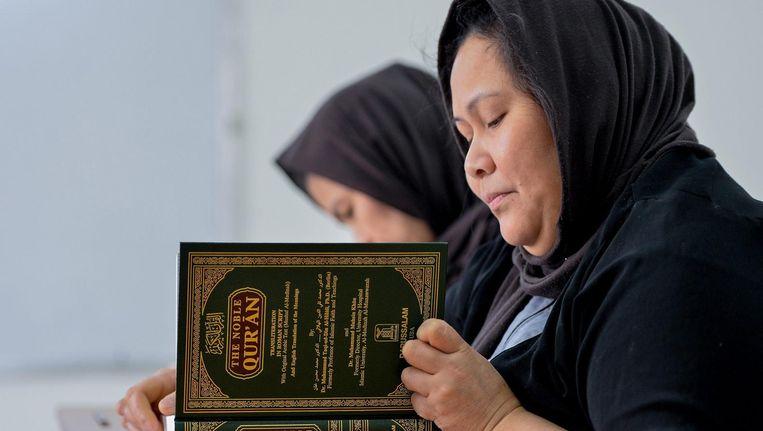 'Ik zat bij een juridisch onderzoeksinstituut waar iedereen jaren achtereen de Sharia had bestudeerd en dus flink gesocialiseerd was.' Beeld epa