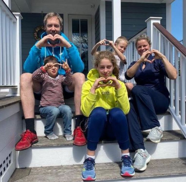 De familie-Clijsters in New Jersey.